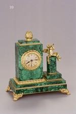 Часы малахит «Ангелочек»